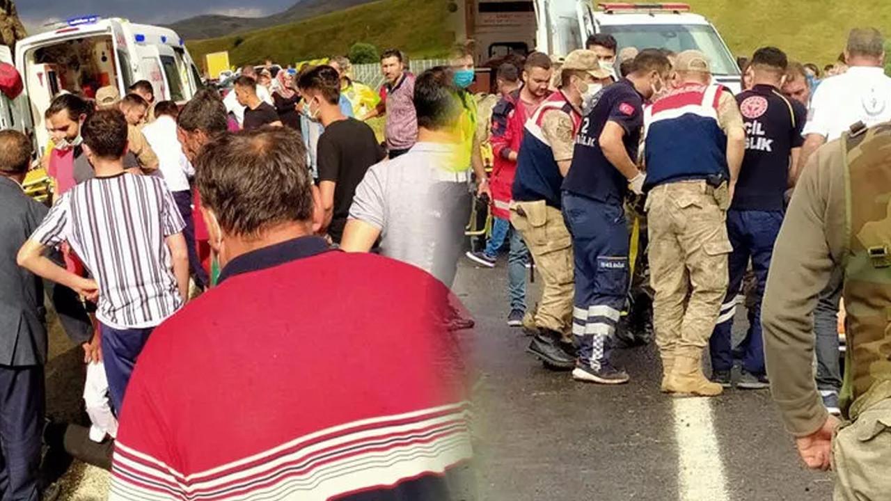 Ağrı'da korkunç kaza: En az 27 kişi yaralandı