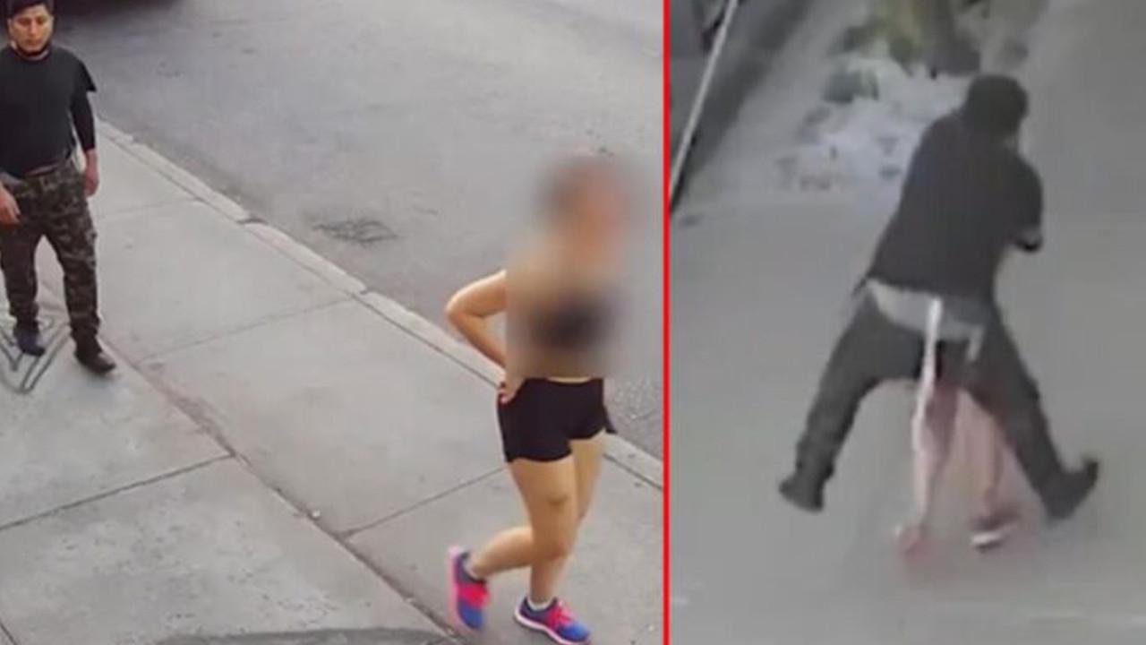 Mide bulandıran taciz: Sokak ortasında üzerine atladı