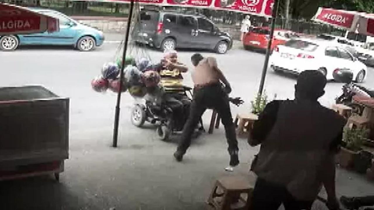 Engellileri döven şahıs yakalandı