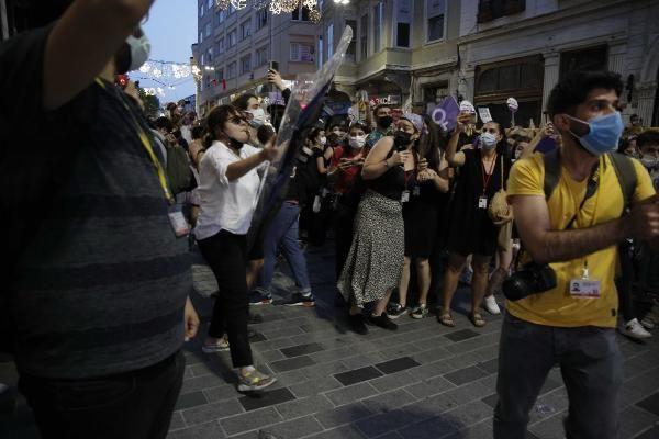 Taksim'de İstanbul Sözleşmesi gerilimi... - Resim: 3
