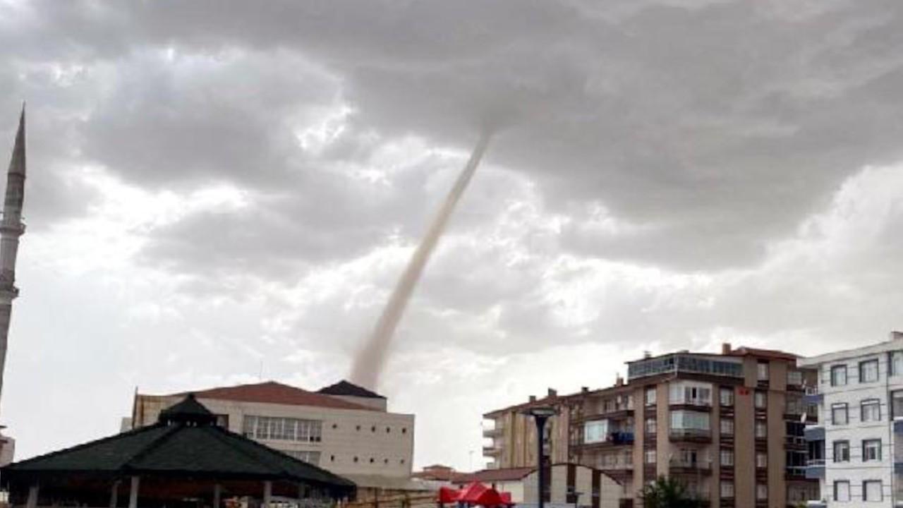 Ankara'da dev hortum panik yarattı