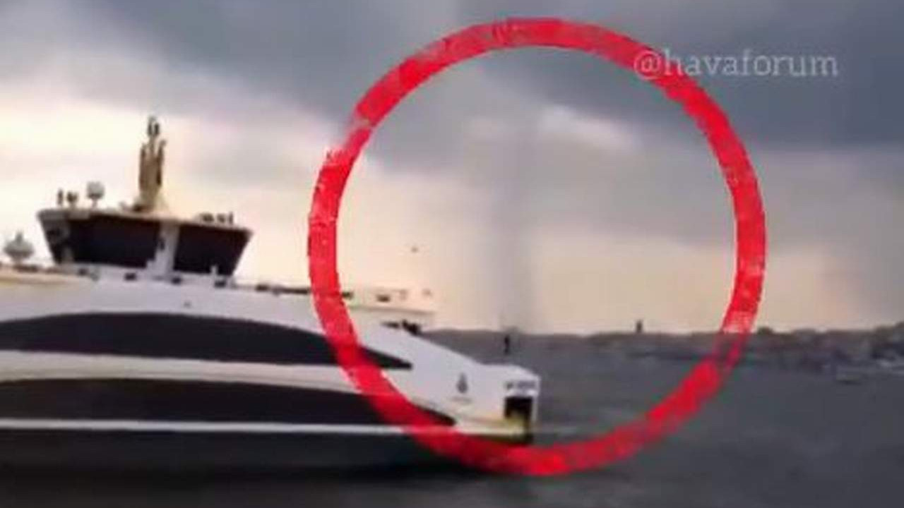 İstanbul'da hortum paniği kamerada