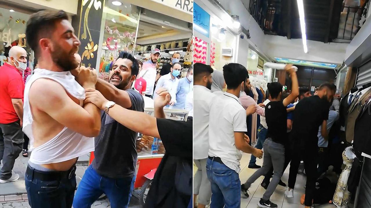 İstanbul'da esnaf kavgası! Ortalık savaş alanına döndü