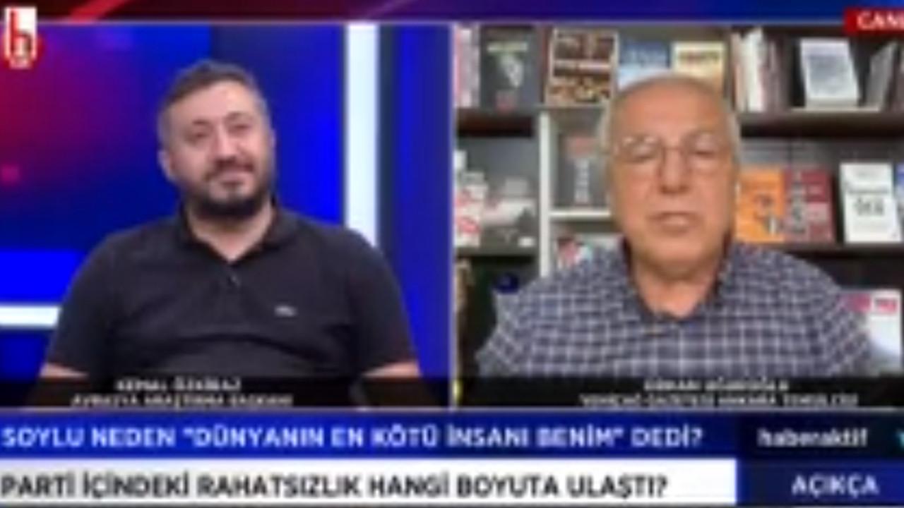 Canlı yayında Erdoğan kavgası: ''Erdoğan'ın adaylığı hukuki değil, anket firmaları sormasın''