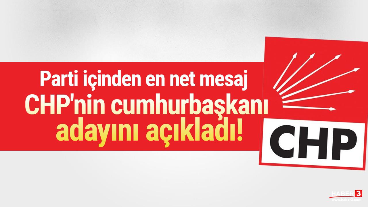 CHP'nin cumhurbaşkanı adayını açıkladı!