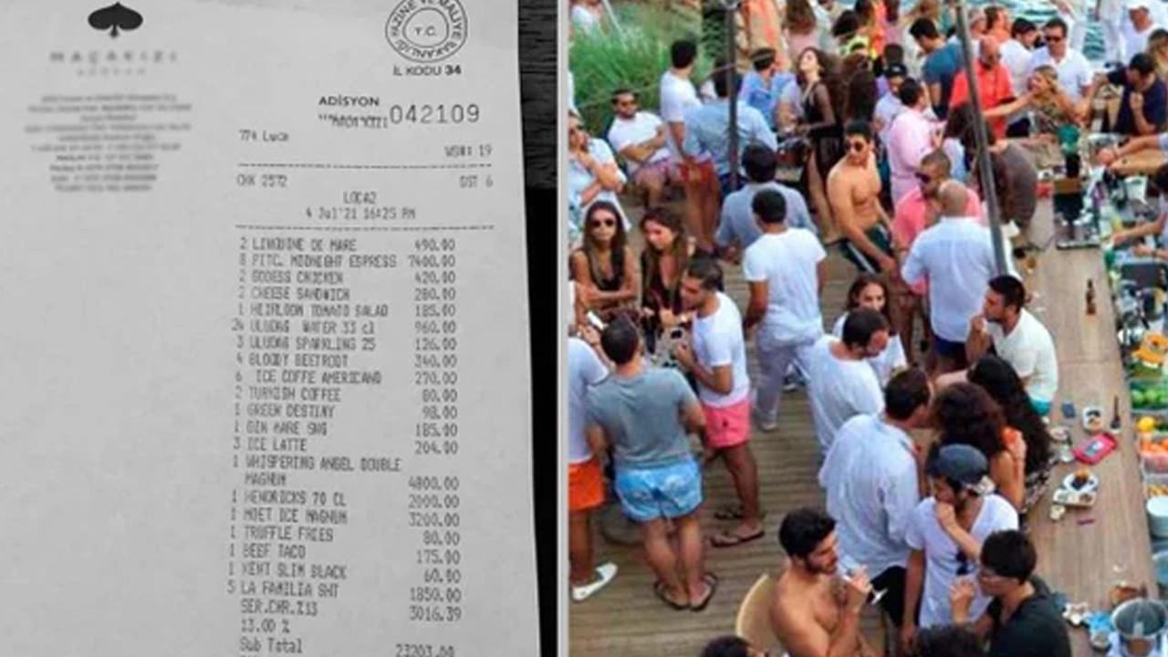 Bodrum'da restoranda gelen 26 bin TL'lik hesap sosyal medyada olay oldu