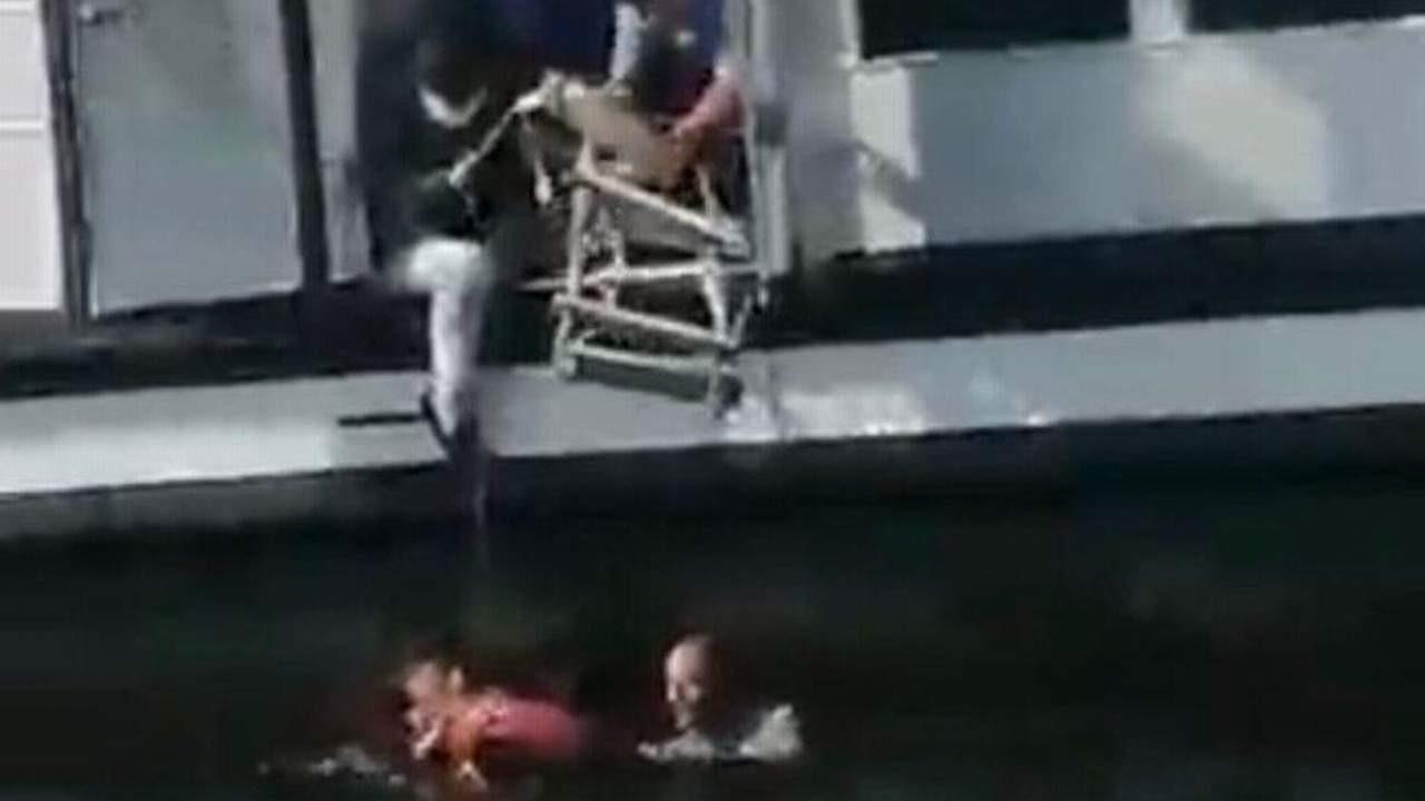 İstanbul'da bir kadın vapurdan düştü