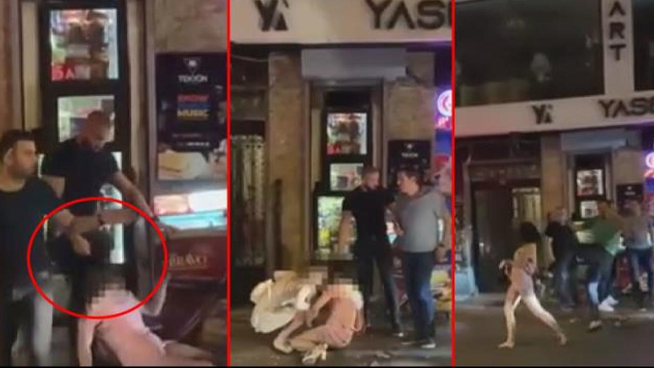 Gece kulübünde dehşet! Güvenlikçinin parmağını koparan kadını dövdüler