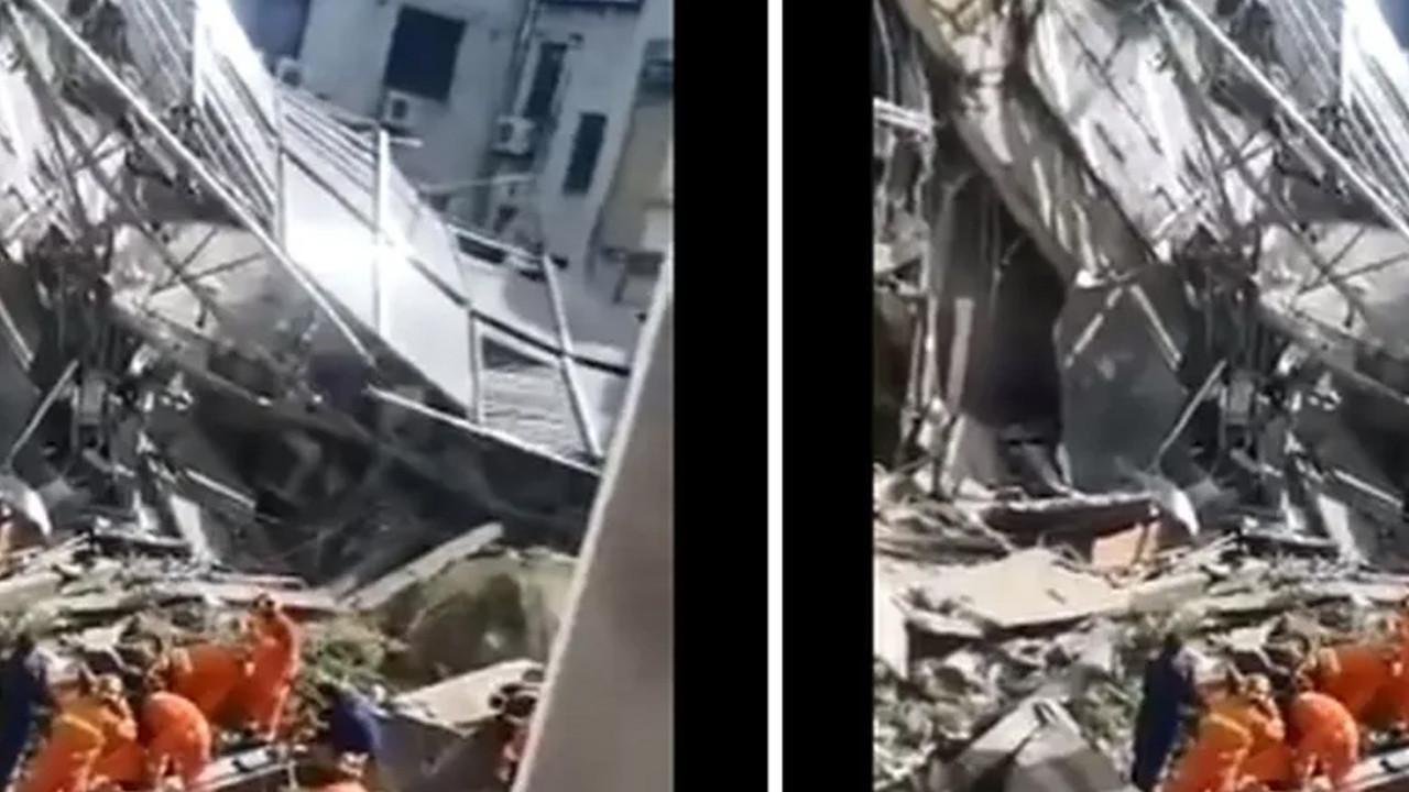 Çin'de otel çöktü: Onlarca kişi enkaz altında