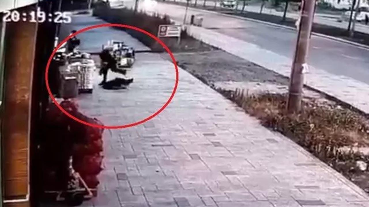 Eşinin öldürdüğü polisin balkondan düştüğü anın görüntüsü ortaya çıktı