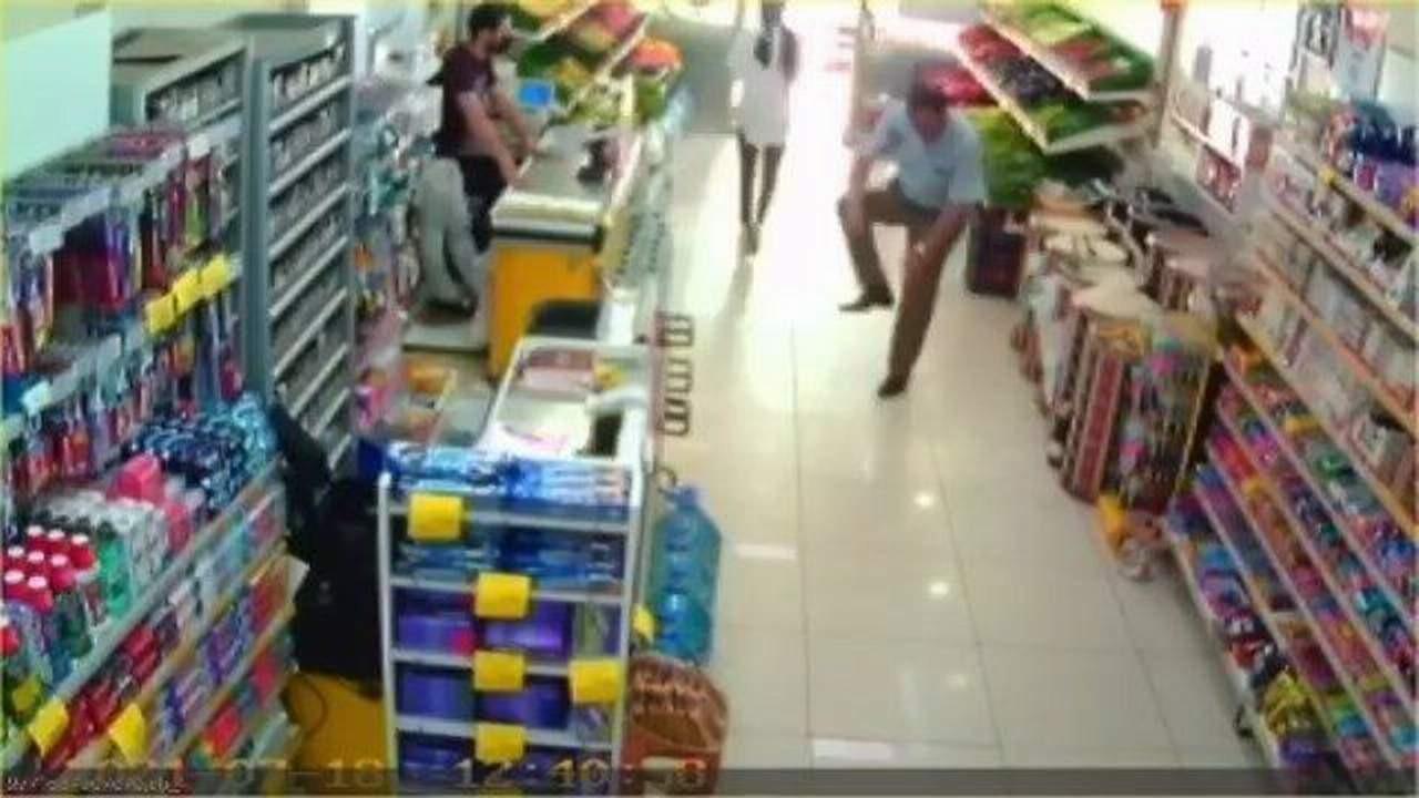 Maskesiz markete giren adam öyle bir şey yaptı ki...