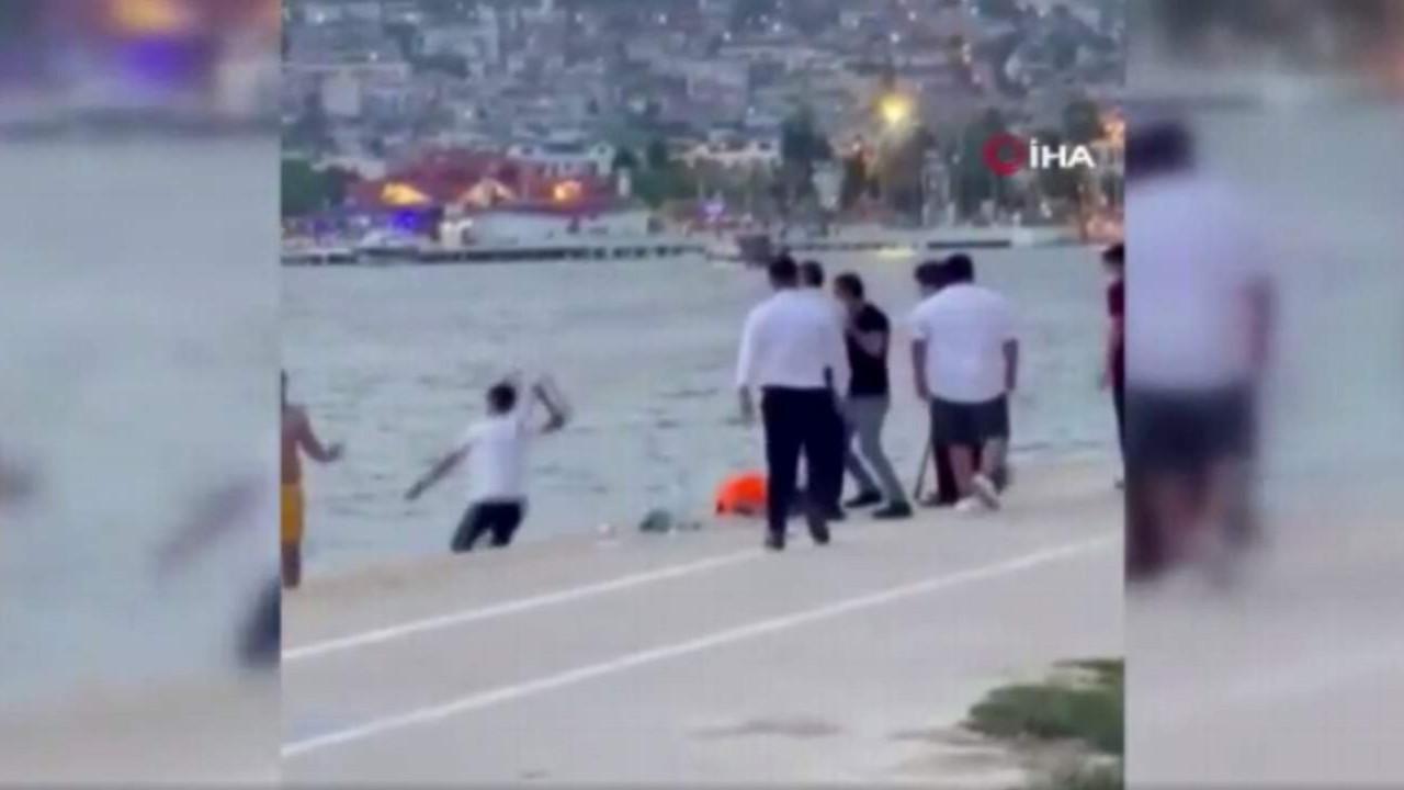 İstanbul'da restoran çalışanları denize giren vatandaşlara saldırdı