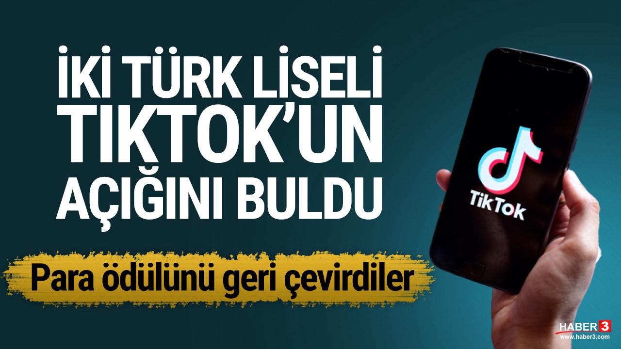 Liseli Türk öğrenciler TikTok'un açığını buldu
