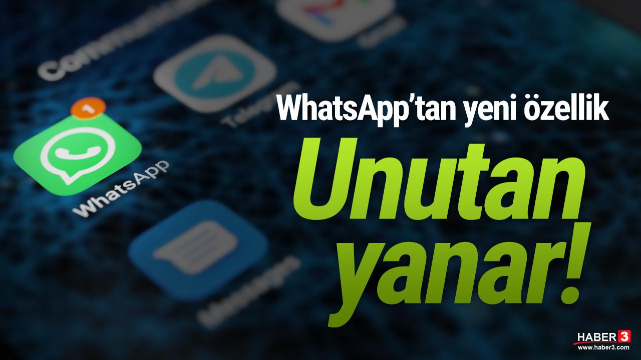 WhatsApp'tan yeni güncelleme... Unutan yandı!
