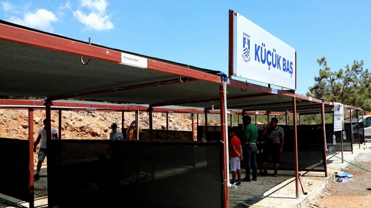 Bodrum'da kurban kesim yerleri hazırlıkları tamam