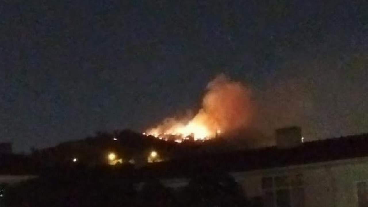 Ankara'da çıkan yangında 2 gecekondu kül oldu