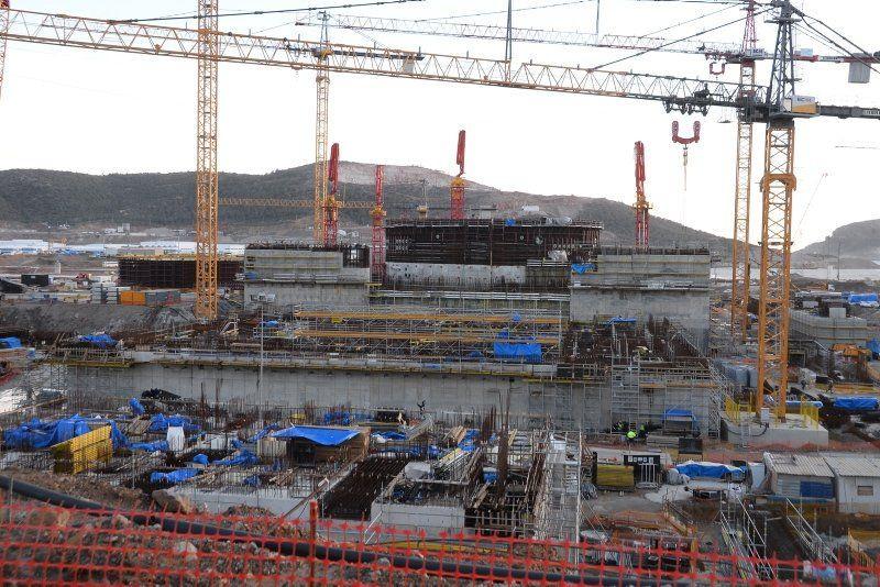 Akkuyu nükleer santralinin inşaatında son durum - Resim: 1