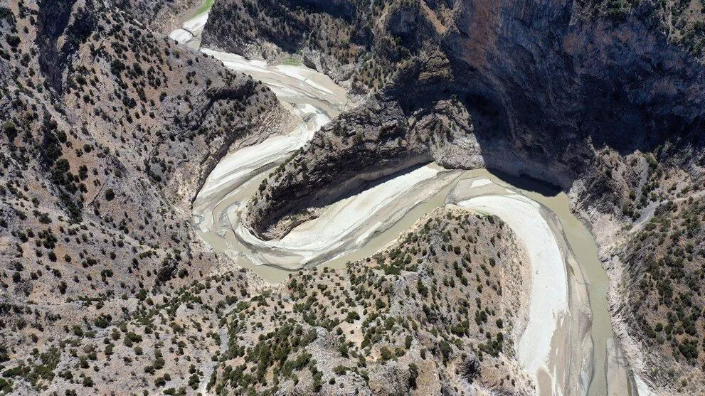 Arapapıştı Kanyonu'ndaki sular çekildi - Resim: 1