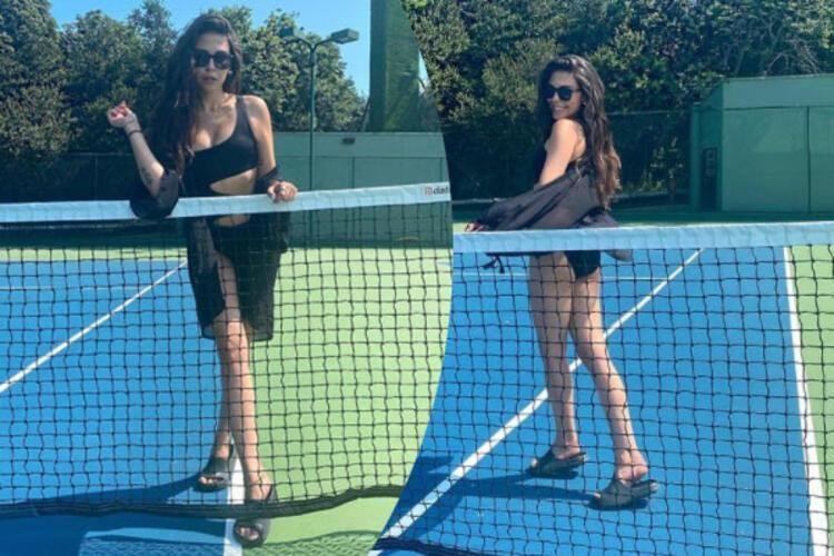 Dilara Aksüyek'ten tenis kortunda mayolu poz - Resim: 3