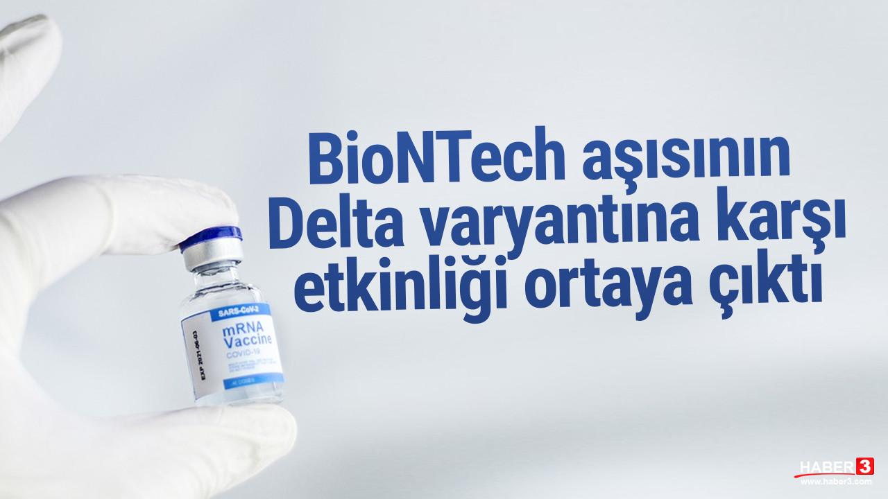 BioNTech aşısının Delta varyantına karşı etkinliği belli oldu