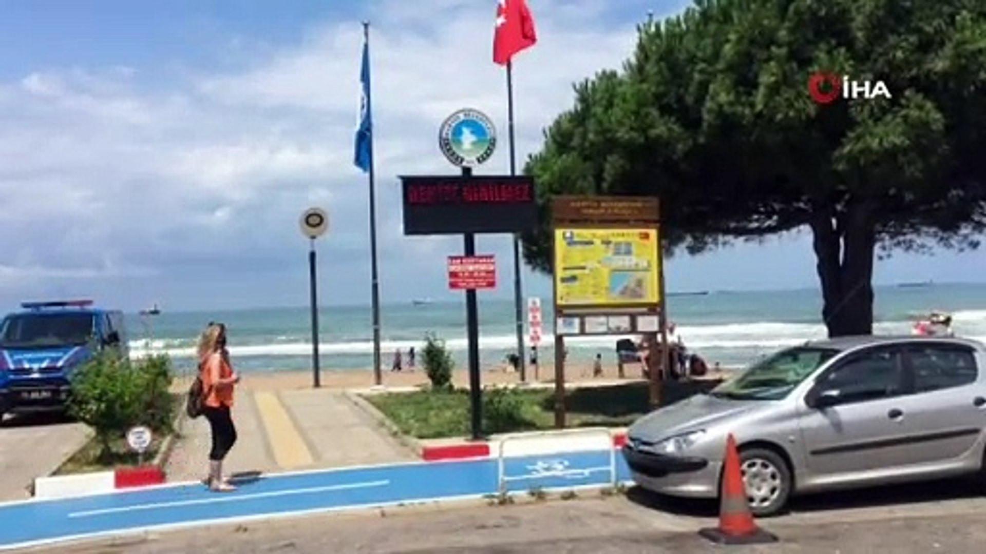 İnkum plajında denize girmek yasaklandı