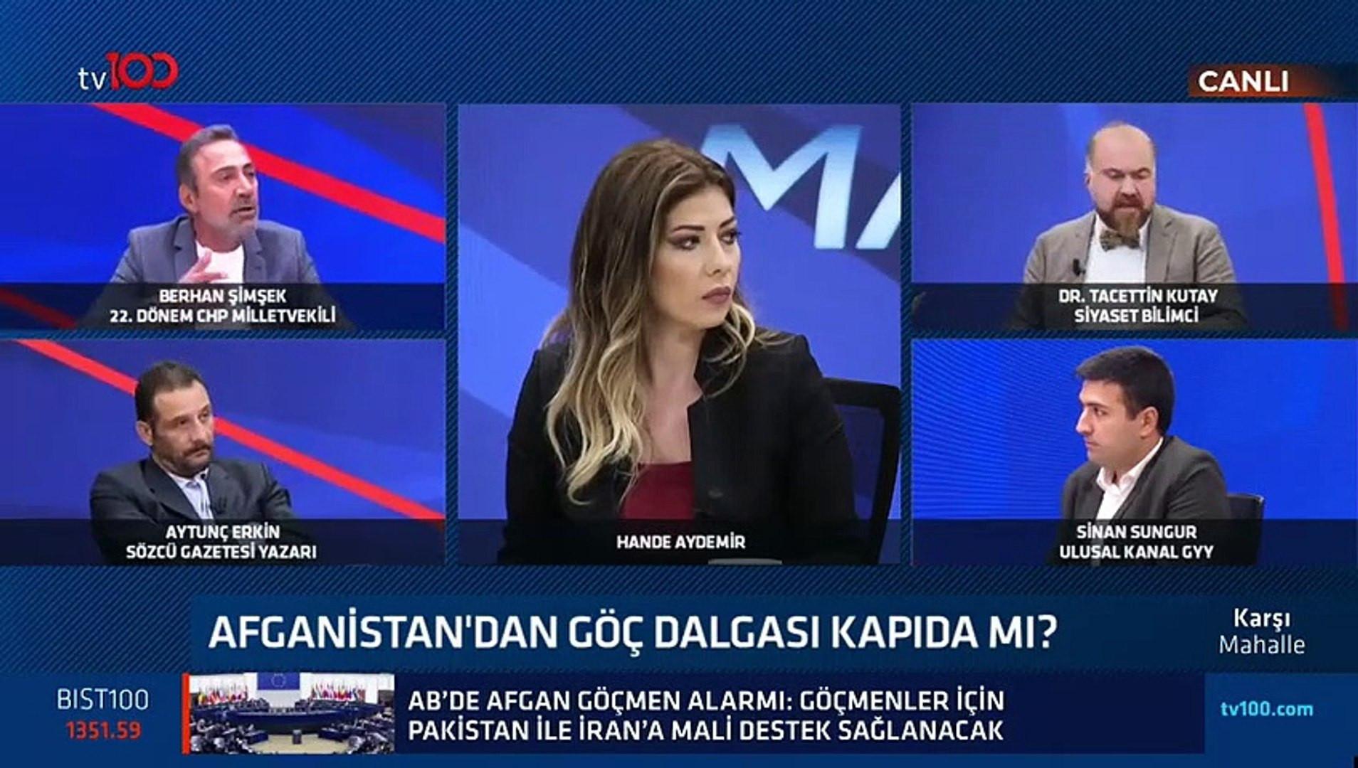 Canlı yayında büyük kavga! Berhan Şimşek ile Tacettin Kutay birbirine girdi