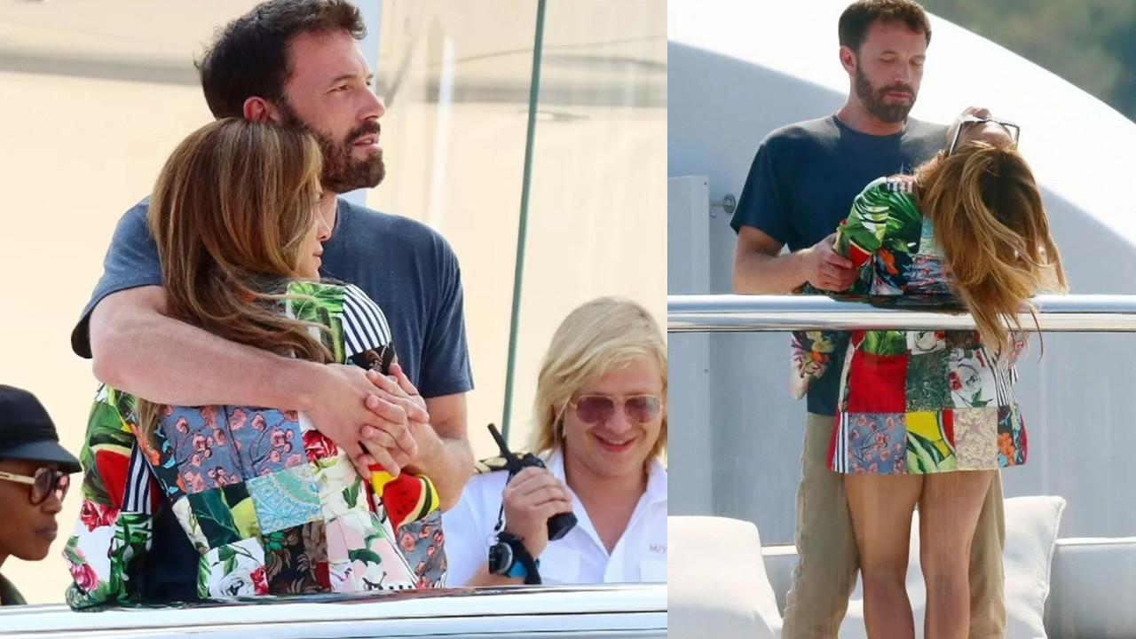 Jennifer Lopez ve Ben Affleck 130 milyon dolarlık yatta aşka geldi