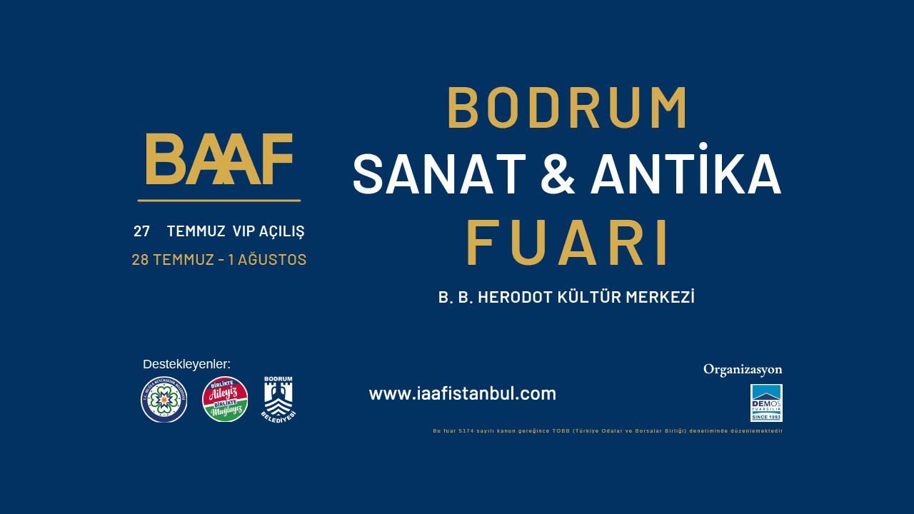 Sanat ve antika meraklıları Baaf Bodrum'da buluşuyor
