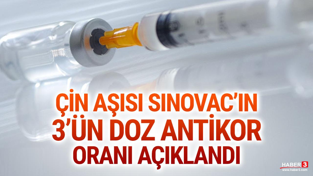 Çin aşısı Sinovac'ın 3. doz etkisi açıklandı