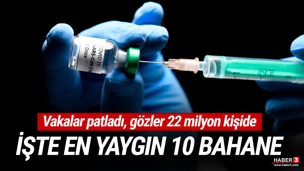 22 milyon kişi neden aşı olmuyor? İşte en çok kullandıkları 10 bahane