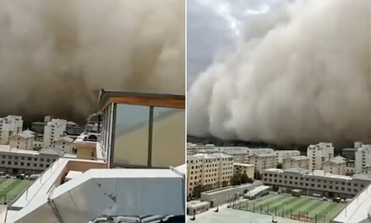Kum fırtınası şehri böyle yuttu - Resim: 2
