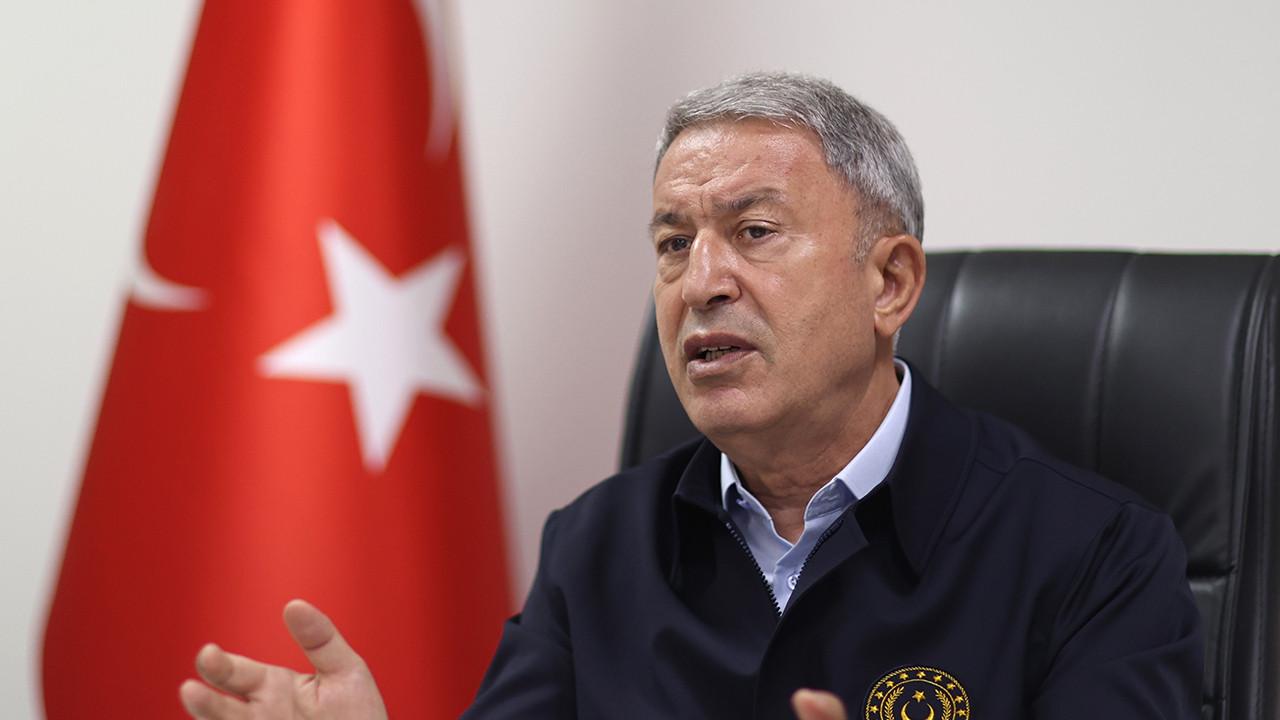 Bakan Akar'dan Güney Kıbrıs'a: ''Şiddetle reddediyor, kınıyoruz''