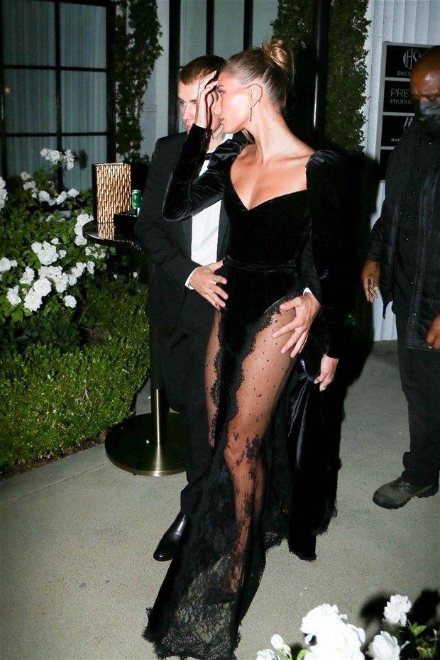 Justin Bieber eşi Hailey Baldwin'in transparan kıyafetine böyle önlem aldı - Resim: 3