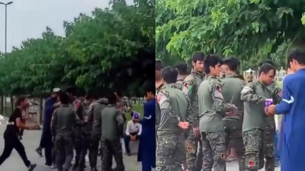 İstanbul'da askeri üniforma giyen Afganlar tartışma yarattı