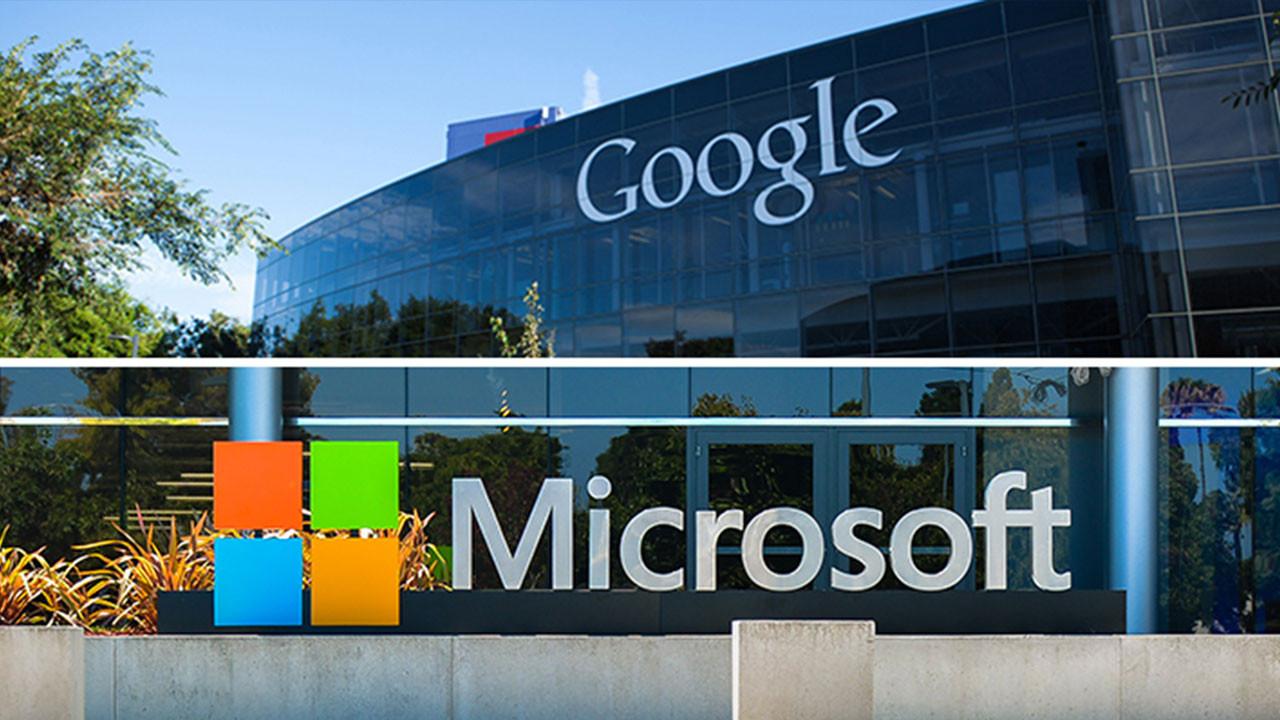 Pandemi onları durduramadı! Google ve Microsoft'tan büyük kâr