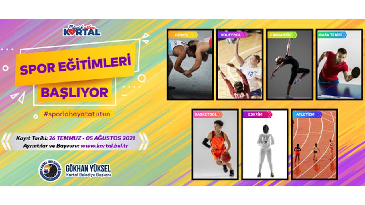 Kartallı Çocuklar 7 Farklı Branşta Spor Eğitimi Alacak