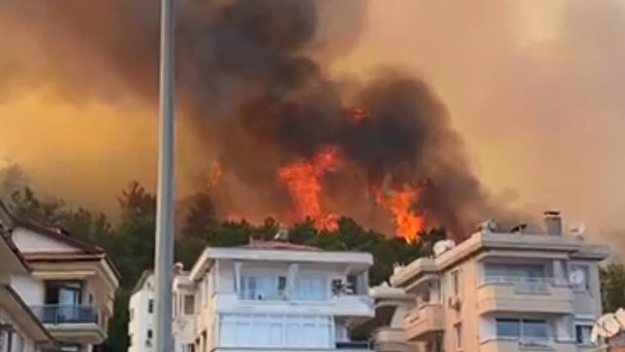 Marmaris'teki yangından acı haber: 1 vatandaşımızı kaybettik