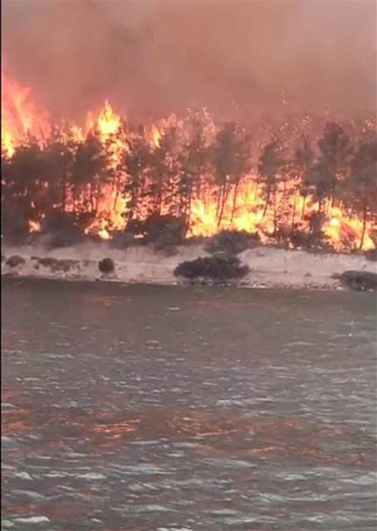 Bodrum'da korku dolu anlar! Alevler otellere sıçradı - Resim: 1