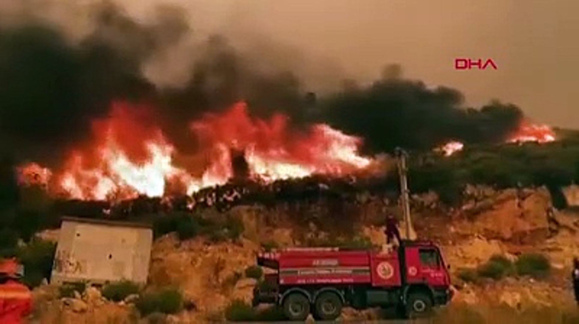 Kabus bitmiyor! Mersin'in 2 ilçesinde orman yangını