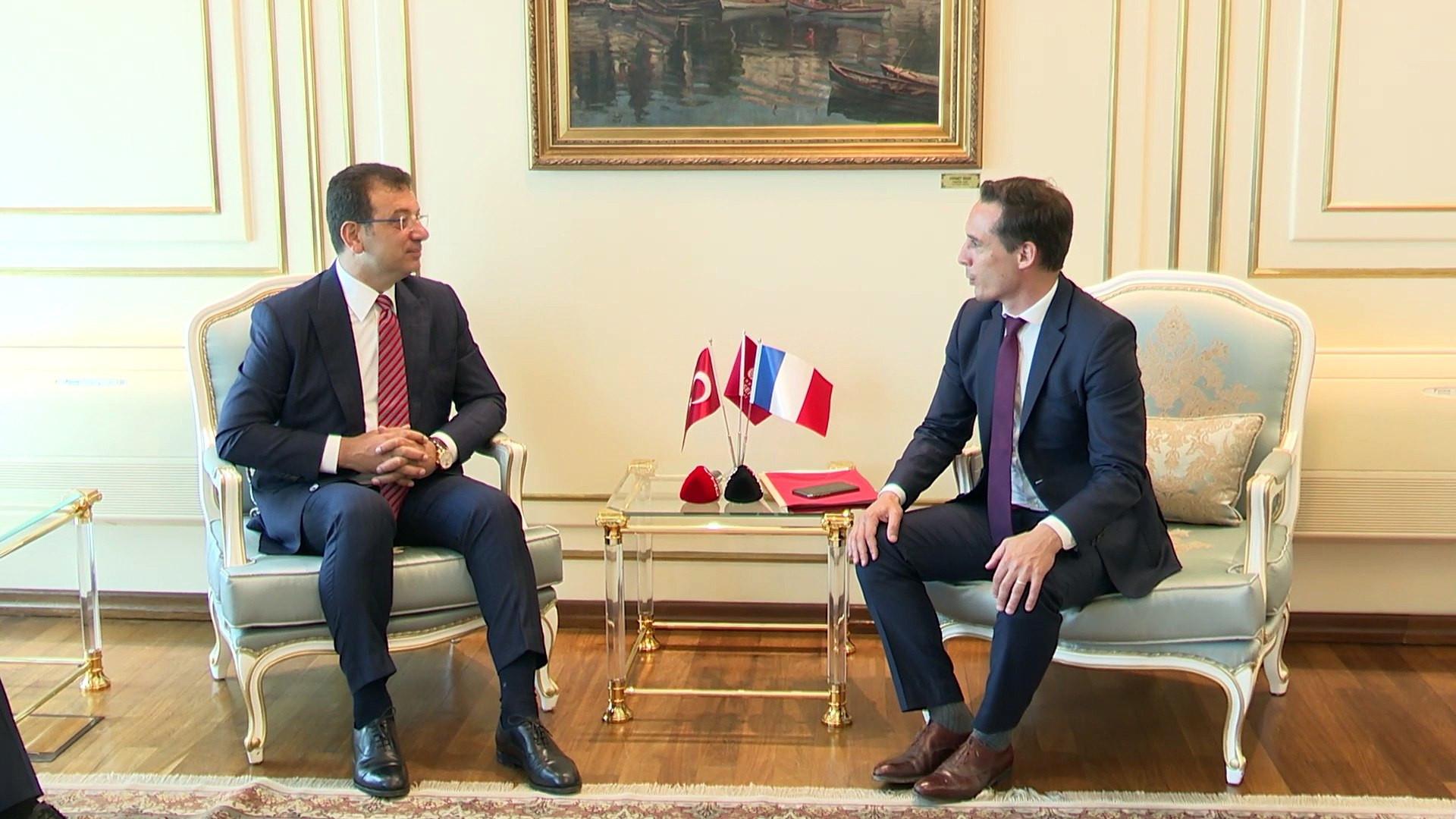 Fransız Bakan İBB  ile iş birliklerinin devam edeceğini açıkladı