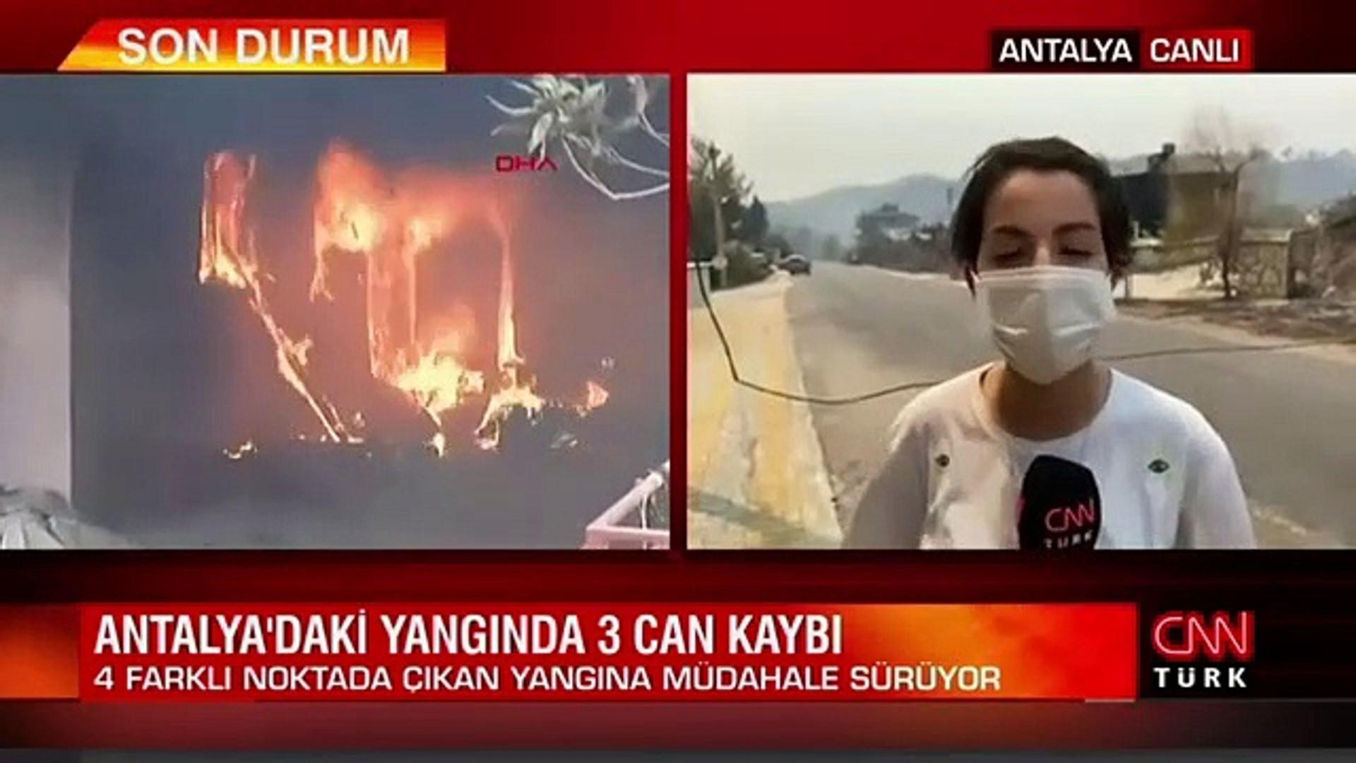 CNN Türk ekibi Manavgat'ta alevlerin arasında kaldı: İşte o anlar...