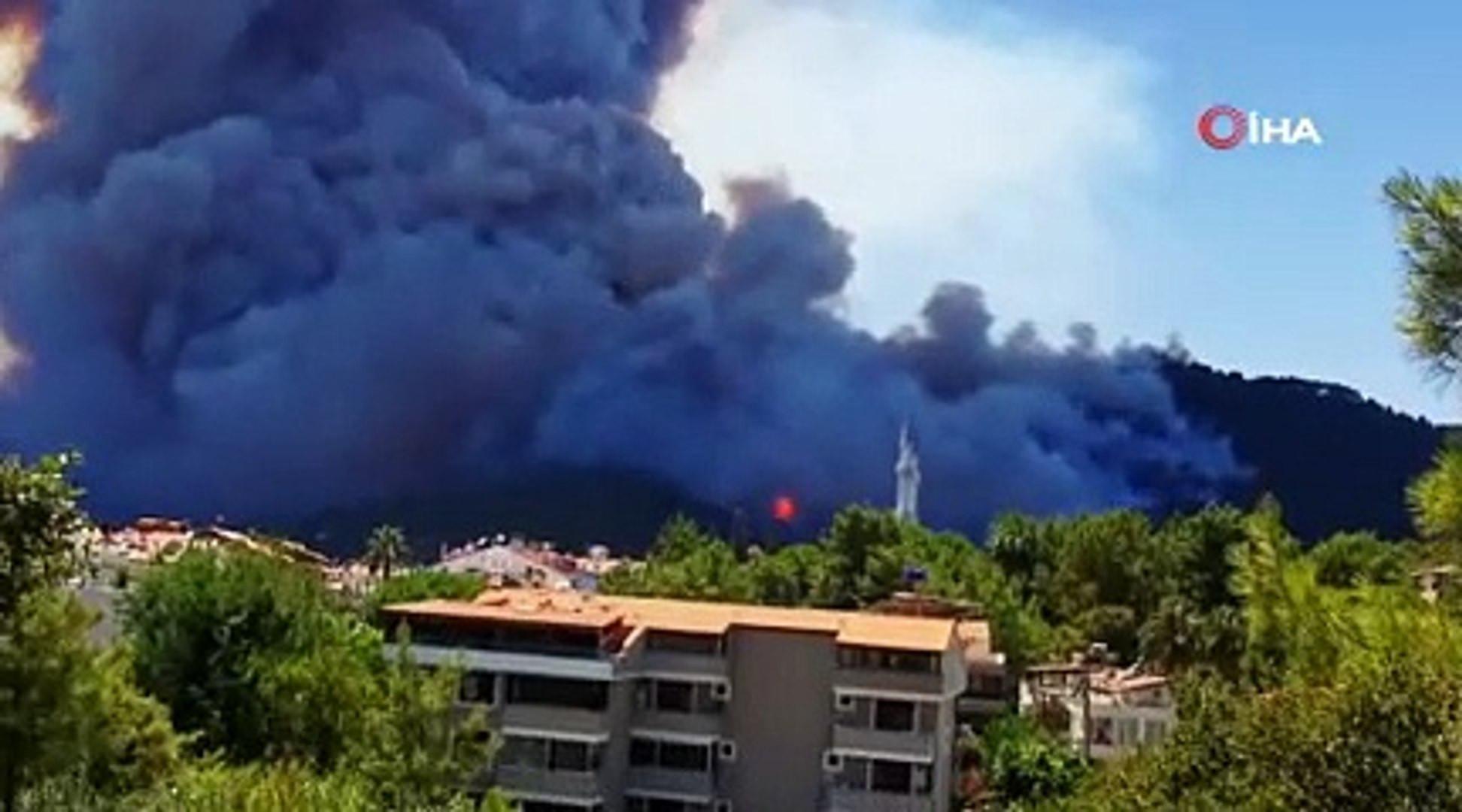 Bir orman yangını daha! Bu sefer de Marmaris yanıyor