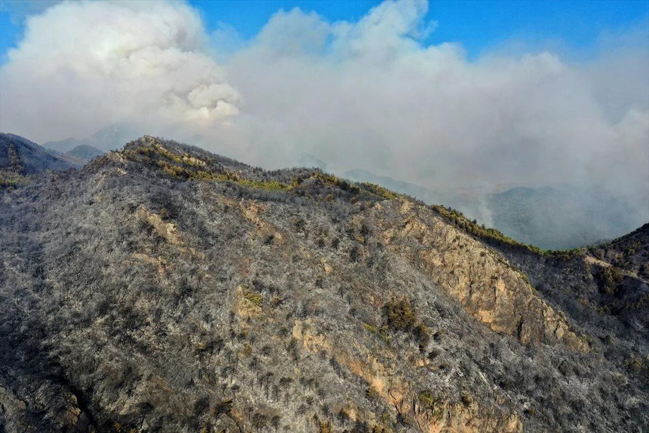 Marmaris'teki orman yangınının nedeni belli oldu! Son durum havadan görüntülendi - Resim: 4