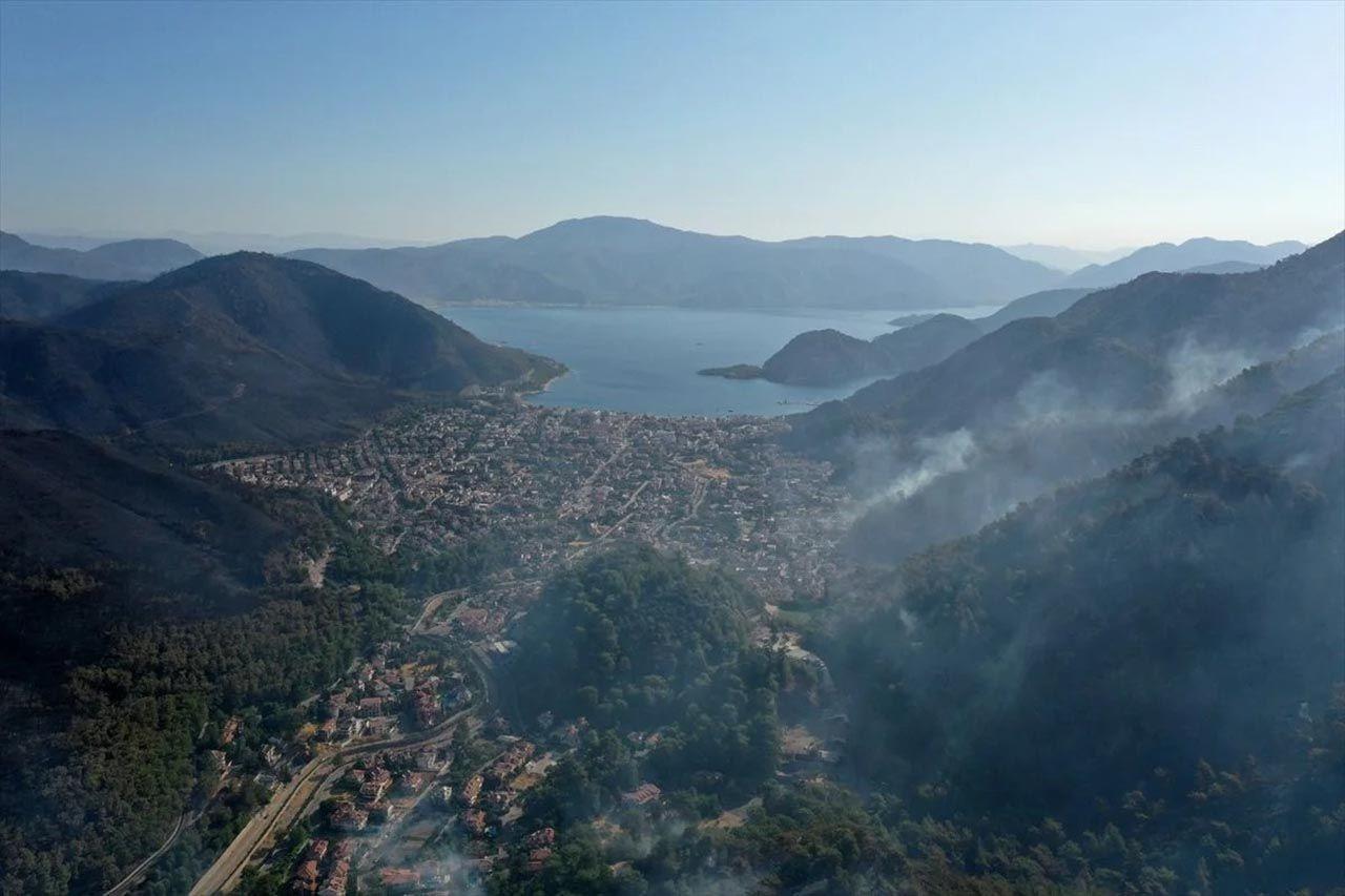 Marmaris'teki orman yangınının nedeni belli oldu! Son durum havadan görüntülendi - Resim: 3