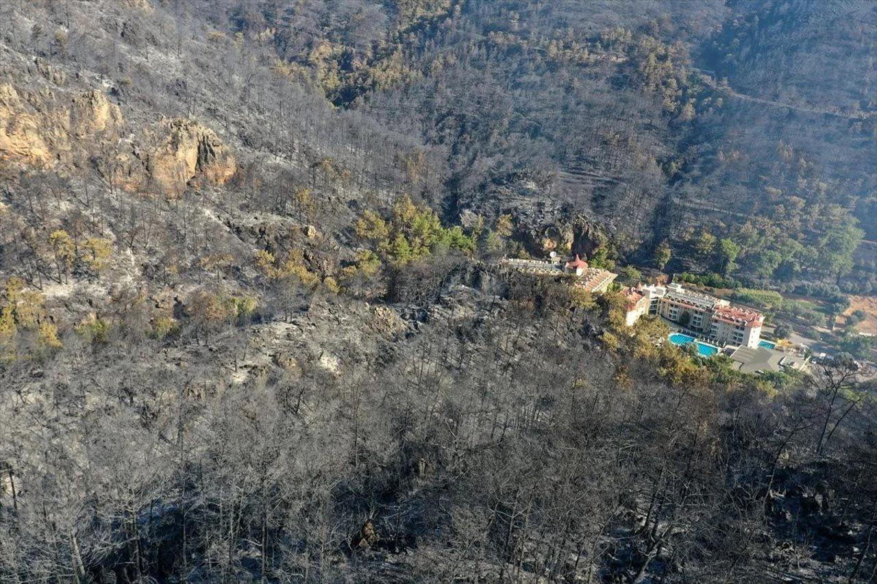 Marmaris'teki orman yangınının nedeni belli oldu! Son durum havadan görüntülendi - Resim: 2