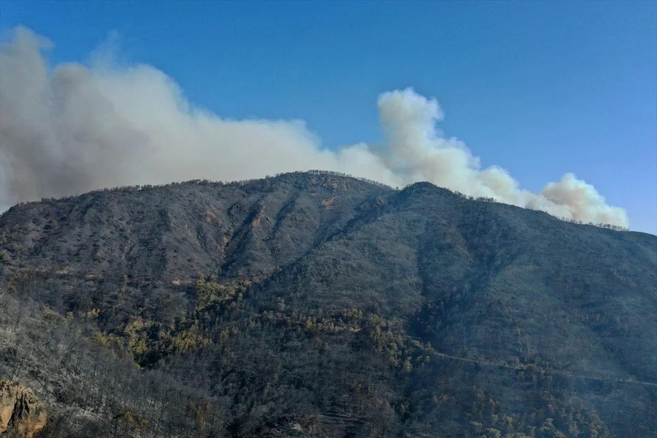 Marmaris'teki orman yangınının nedeni belli oldu! Son durum havadan görüntülendi - Resim: 1