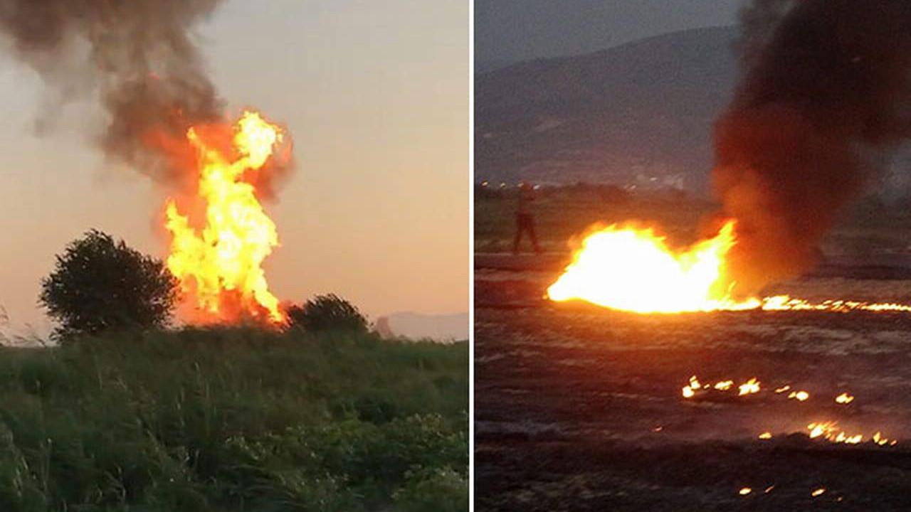 Aydın'da patlama! Alevler gökyüzüne yükseldi