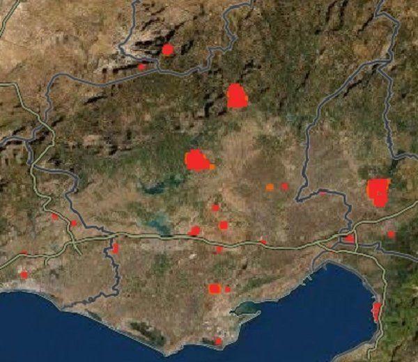 Türkiye'deki orman yangınları uzaydan görüntülendi - Resim: 1