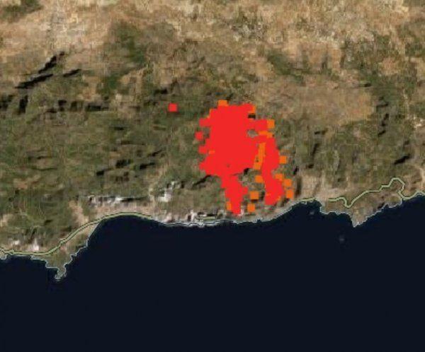 Türkiye'deki orman yangınları uzaydan görüntülendi - Resim: 3