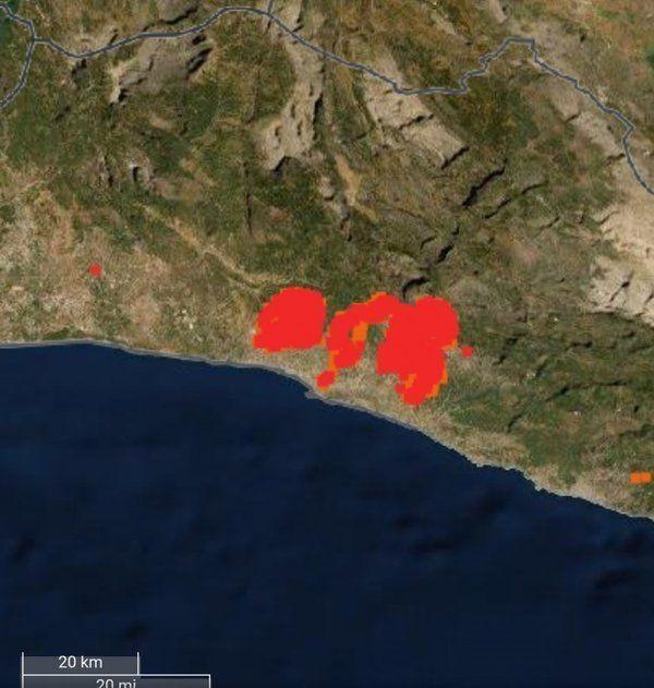 Türkiye'deki orman yangınları uzaydan görüntülendi - Resim: 2